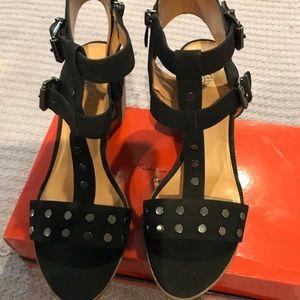 Frank sarto black sandals SIZE 9m